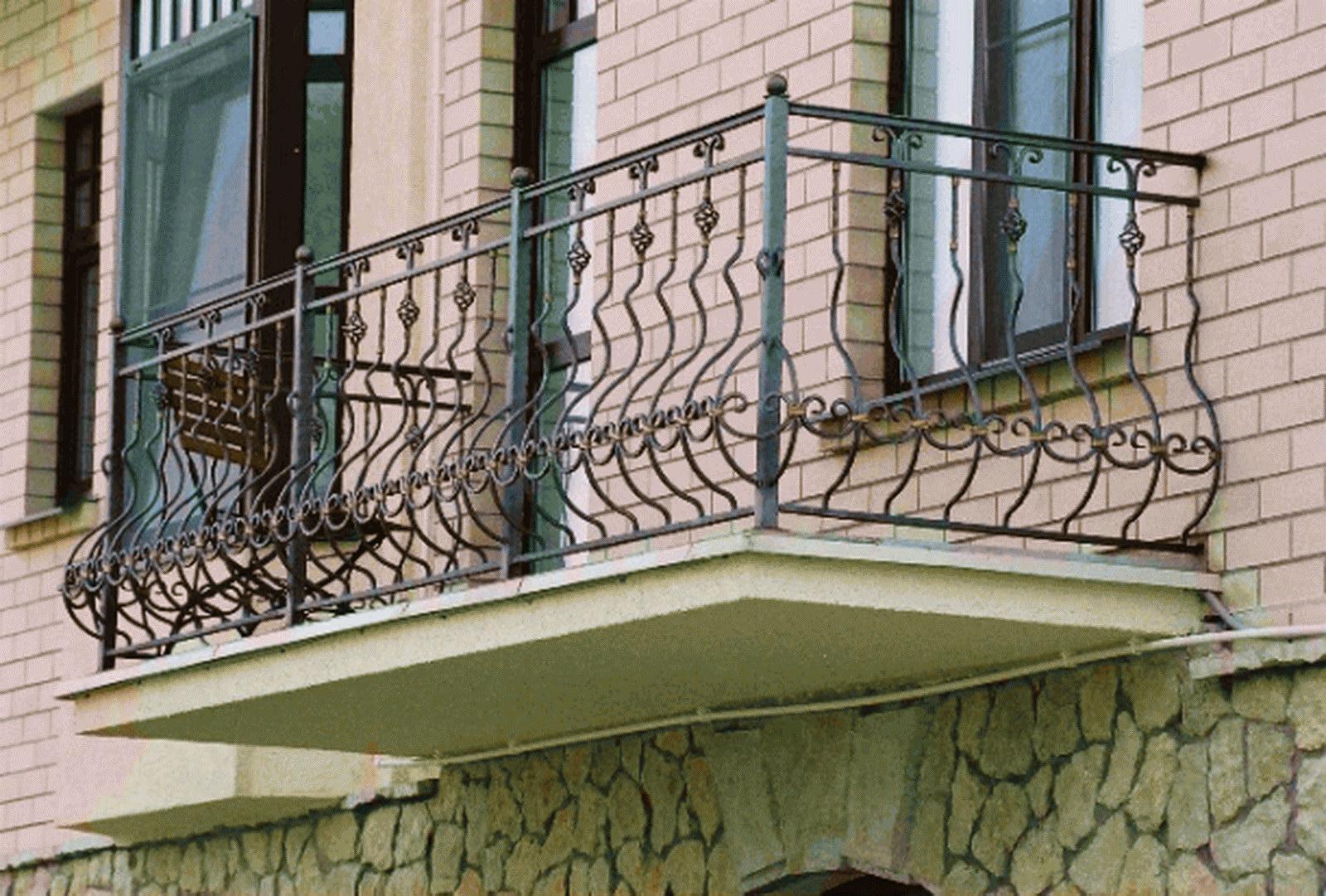 Кованые балконы, французские балконы, балконы из металла ков.