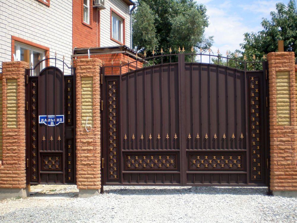 Фото ворота для дома