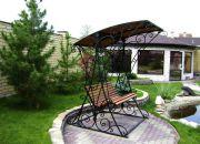 Кованая скамейка с навесом Оренбург (016)