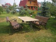 Кованые скамейки и стол для дачи заказать в Оренбурге (020)