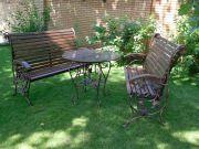 Кованые скамейки и стол для дачи заказать в Оренбурге (022)