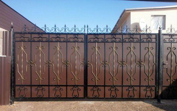 Кованые ворота Оренбург (128)
