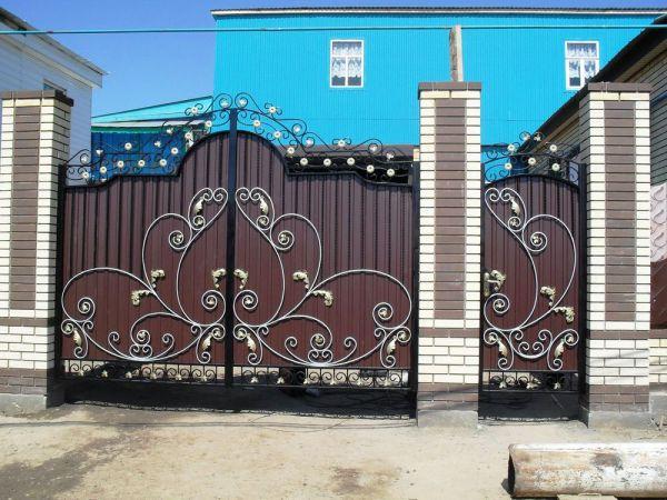 Кованые ворота Оренбург (129)