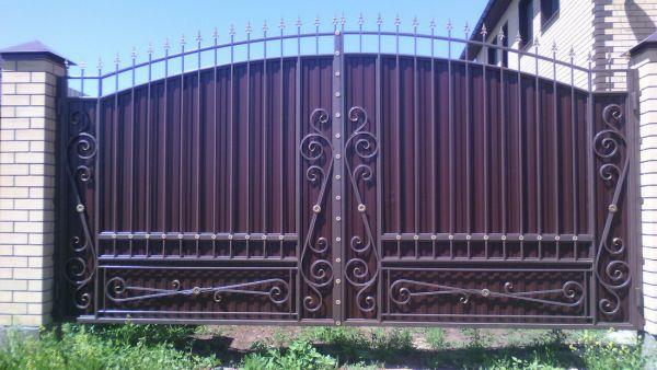 Кованые ворота Оренбург (137)